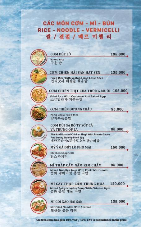 Các món cơm - mì - bún